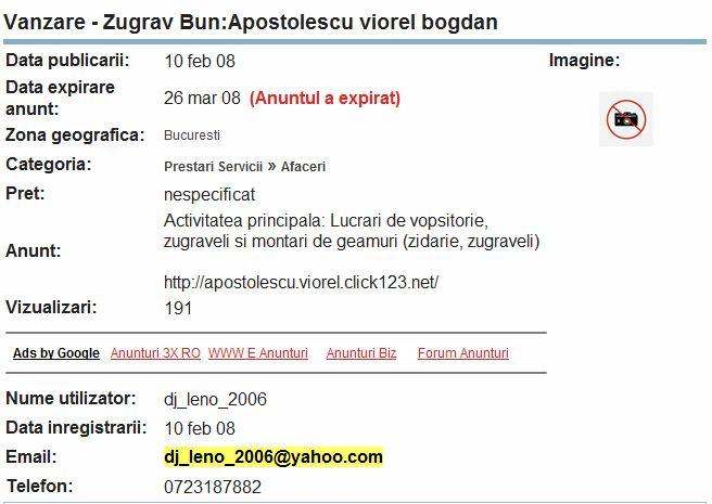Dj Leno (Apostolescu Viorel Bogdan) sau un zugrav bun